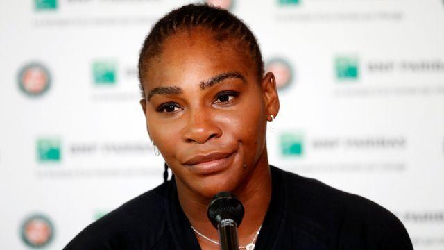 Serena Williams était évidemment triste en conférence de presse. [Guillaume Horcajuelo - Keystone]