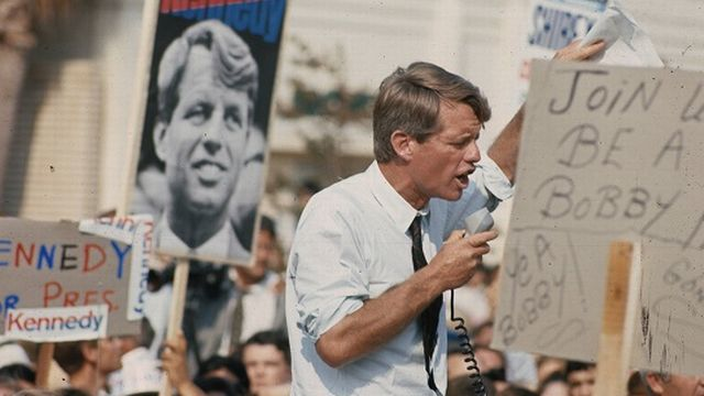 La dernière campagne de Bob Kennedy en 1968. [Jean-Jacques Lagrange - RTS]