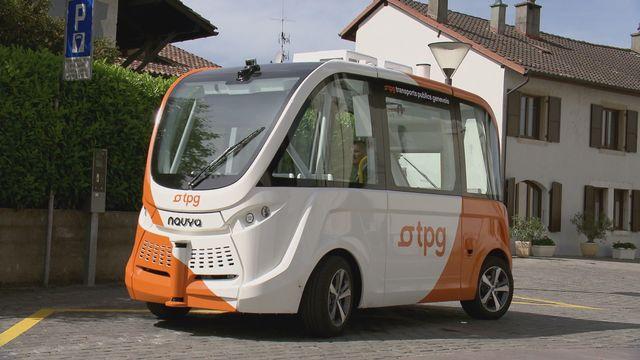 Le minibus autonome des TPG compte quinze places, dont onze assises. [DR]