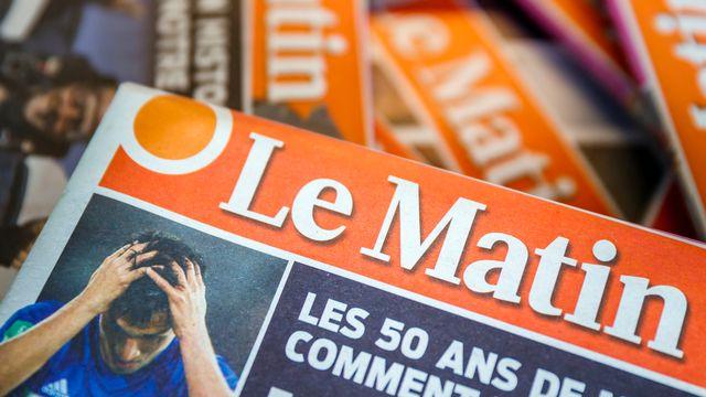 Des copies papier du journal Le Matin du mardi 5 juin 2018. [Valentin Flauraud - Keystone]