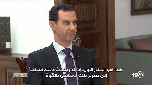 Syrie: Bachar el Assad contrôle désormais les deux tiers du territoire, mais aucune issue politique au conflit n'apparaît [RTS]