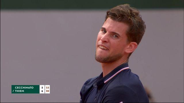 1-2, M.Cecchinato (ITA) – D.Thiem (AUT) 5-7: premier set remporté par l'Autrichien [RTS]