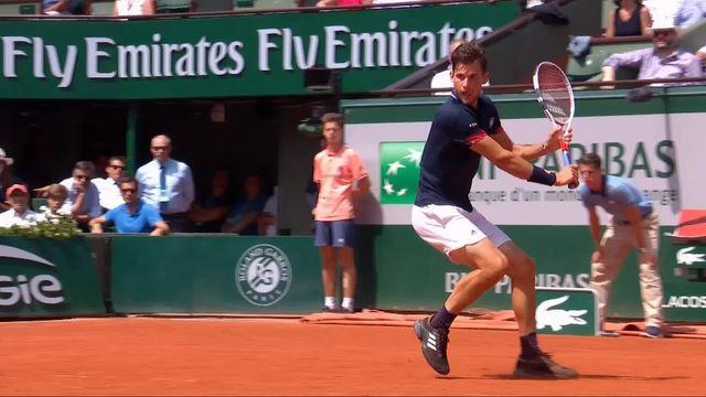 1-2, M.Cecchinato (ITA) – D.Thiem (AUT) 5-7, 6-7: Thiem remporte le second set au tie-break (12-10) [RTS]