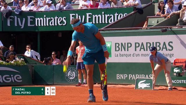 1-2, R.Nadal (ESP) – J.-M.Del Potro (ARG) 6-4, 6-1: deuxième set facilement remporté par Nadal [RTS]