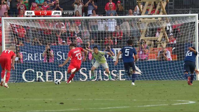 Amical, Suisse – Japon (1-0): 42e, Ricardo Rodriguez ouvre le score sur penalty [RTS]