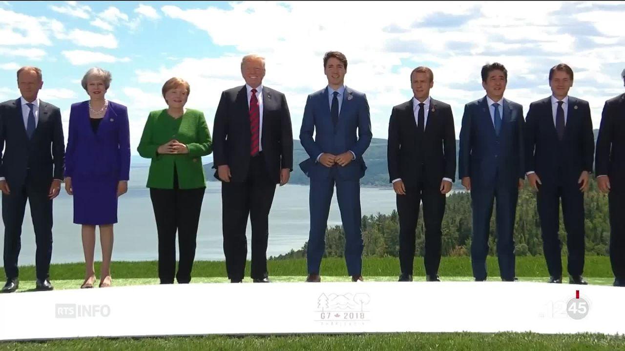 Canada G7: ce sommet se déroule sur fond de tensions entre les Etats-Unis et ses partenaires [RTS]