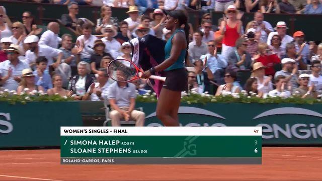 Finale, S.Halep (ROU) – S.Stephens (USA) 3-6: première manche logiquement remportée par l'Américaine [RTS]