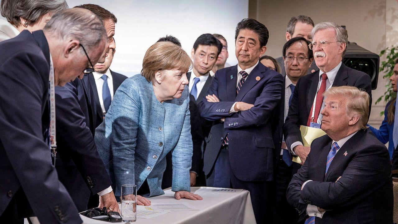 Donald Trump a annoncé via un tweet qu'il ne soutenait pas les décisions finales du G7. [Jesco Denzel - Bundesregierung]
