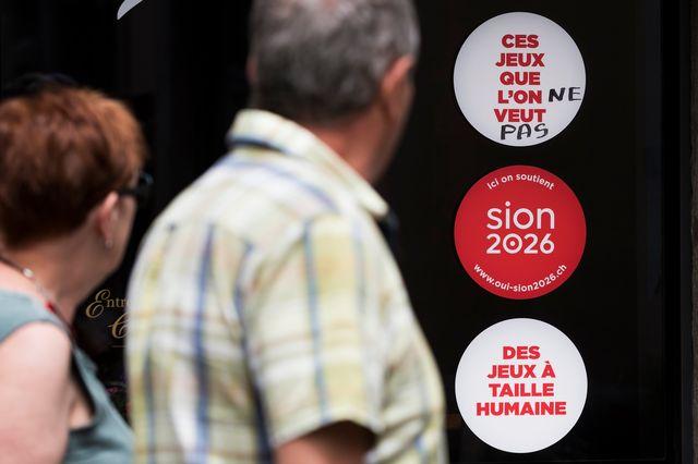 Les Valaisans ont dit non à une candidature de Sion pour les Jeux olympiques. [Jean-Christophe Bott - Keystone]