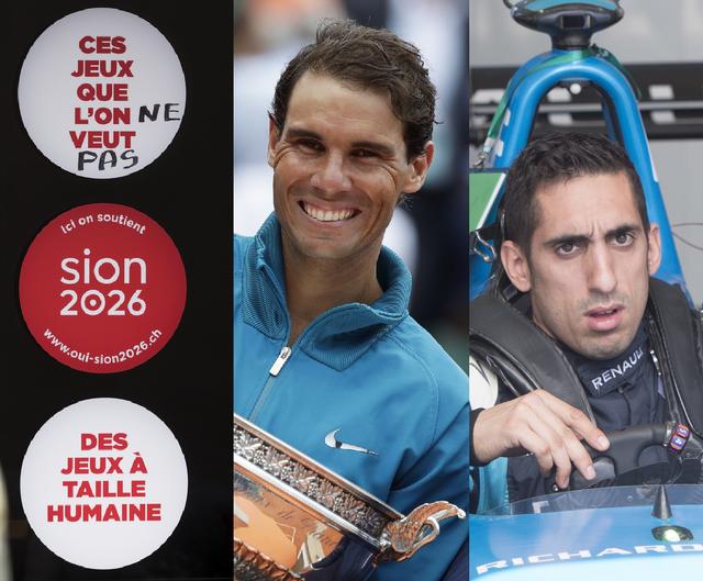 Sion 2026 - Rafael Nadal- Sébastien Buemi [Jean-Christophe Bott- Alessandra Tarantino - Ryan Remioz - Keystone]
