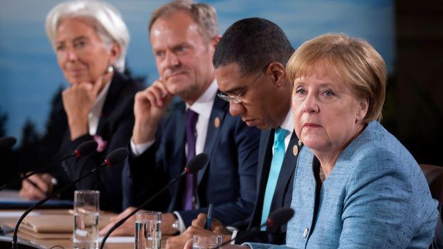 Angela Merkel a assez mal vécu le sommet du G7 [Keystone]