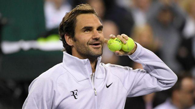 Federer fait son retour à la compétition après deux mois et demi de pause. [Mark J. Terrill - Keystone]