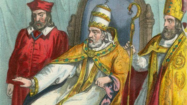 Le Pape Martin V au Concile de Bâle en 1431. [Fototeca/Leemage - AFP]