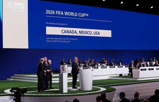 Un trio pour organiser la première Coupe du monde à 48 équipes. [Felipe Trueba - Keystone]