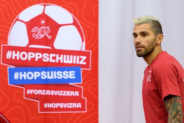 Behrami se réjouit de disputera sa 4e Coupe du monde. [Laurent Gilliéron - Keystone]
