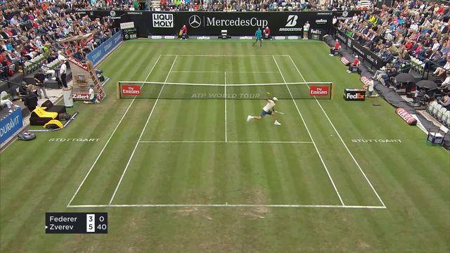 Stuttgart, 2e tour, R.Federer (SUI) - M.Zverev (ALL) 3-6: Premier set remporté par l'allemand [RTS]