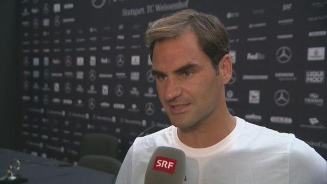 Tennis : interview de Federer après son retour à Stuttgart [RTS]