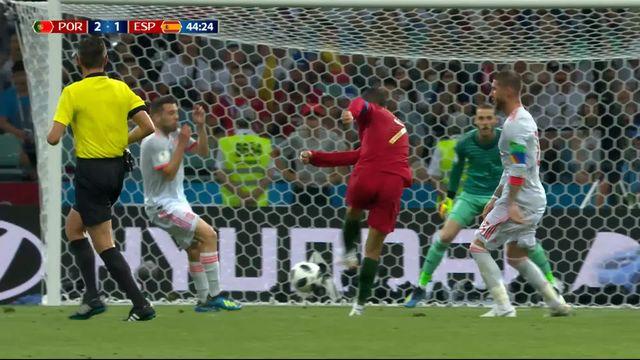 Gr.B, Portugal – Espagne (2-1): 44e, grosse erreur de De Gea qui offre le doublé à Cristiano Ronaldo [RTS]