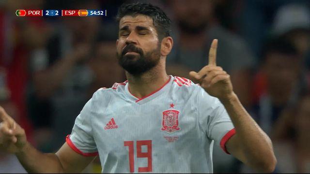 Gr.B, Portugal – Espagne (2-2): 55e, doublé de Diego Costa après une belle combinaison [RTS]