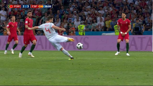 Gr.B, Portugal – Espagne (2-3): 58e, Nacho s'offre un but exceptionnel et donne l'avantage à l'Espagne [RTS]