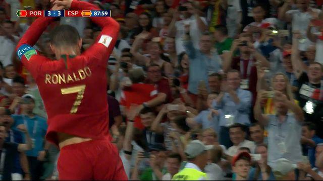 Gr.B, Portugal – Espagne (3-3): 87e, égalisation de Cristiano Ronaldo qui s'offre un triplé! [RTS]