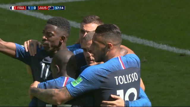 Gr.C, France – Australie (1-0) : 58e, ouverture du score de Griezmann sur penalty [RTS]
