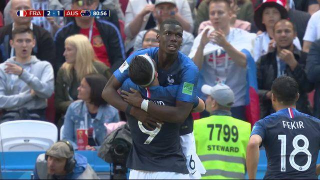 Gr.C, France – Australie (2-1) : 80e, Pogba redonne l'avantage aux Bleus [RTS]