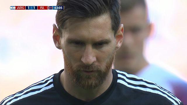 Gr.D, Argentine – Islande (1-1) : 64e, Halldorsson repousse le penalty de Messi [RTS]