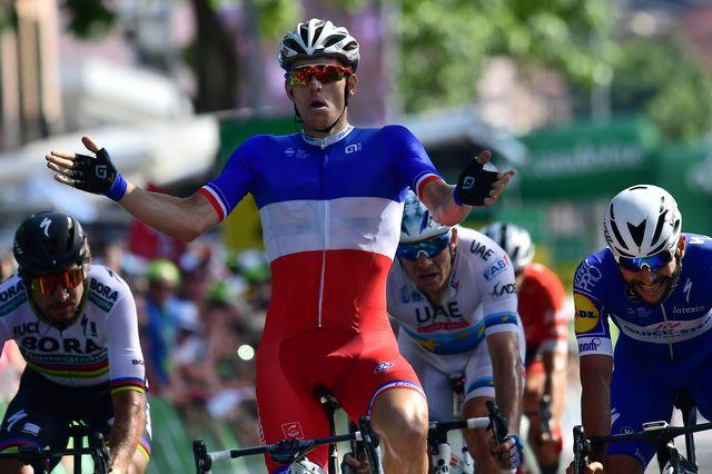 Démare a notamment maté Sagan lors de l'emballage final. [Gian Ehrenzeller - Keystone]