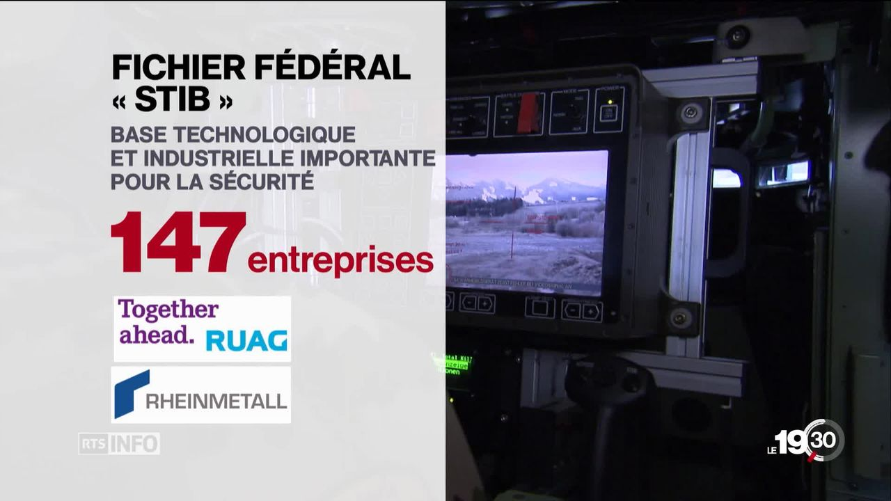La Suisse pourra plus facilement exporter du matériel de guerre [RTS]