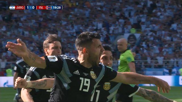 Gr.D, Argentine – Islande (1-0) : 19e, Agüero ouvre le score de fort belle manière pour l'Argentine! [RTS]