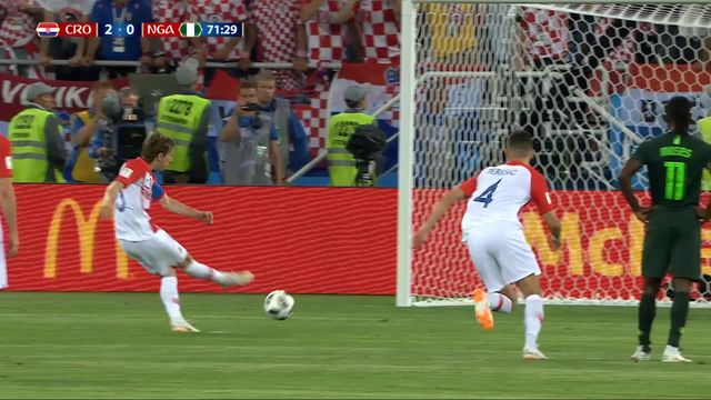 Gr. D, Croatie - Nigéria 2-0: 71e Modric [RTS]