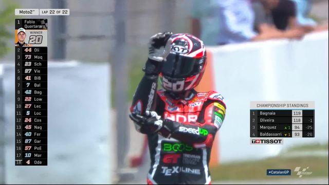 Moto 2, GP de Catalogne (ESP): 1re victoire en carrière pour Quartararo (FRA) [RTS]
