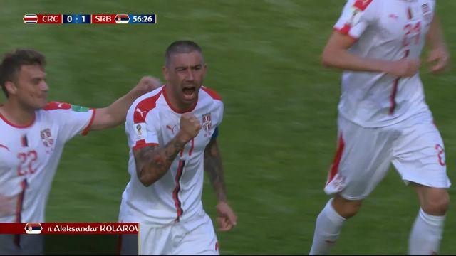 Gr.E, Costa Rica – Serbie (0-1) : 60e, superbe coup franc en pleine lucarne de Kolarov [RTS]