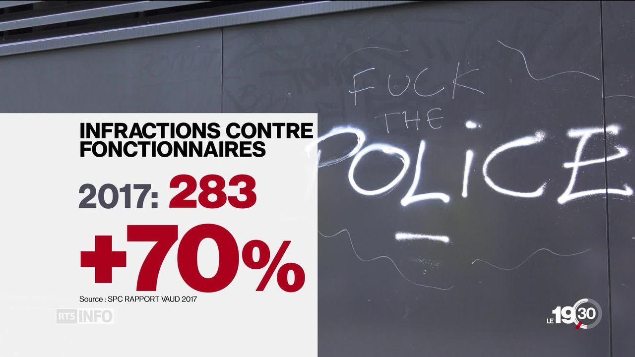 Les policiers sont de plus en plus victimes de violences [RTS]