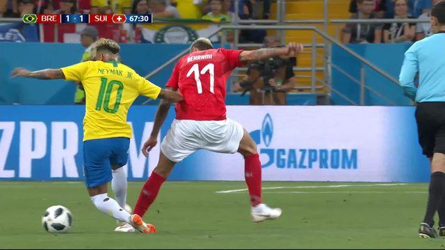 Gr.E : Brésil-Suisse 1-1. Tous les duels de Valon Behrami face à Neymar [RTS]