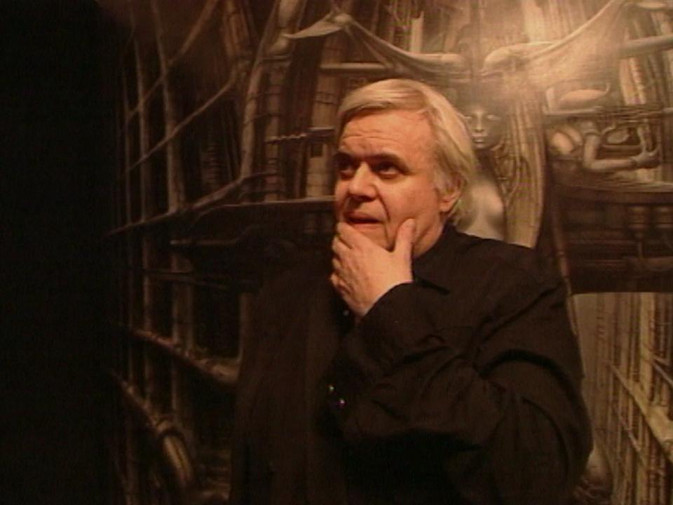 L'artiste Hans Ruedi Giger à Gruyères en 1998. [RTS]