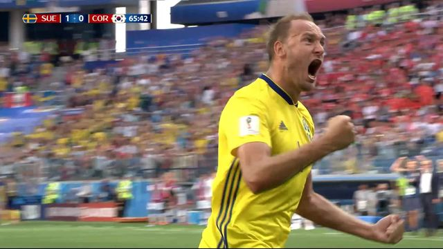 Gr.F, Suède – Corée du Sud (1-0): 65e, Granqvist ouvre le score sur penalty [RTS]