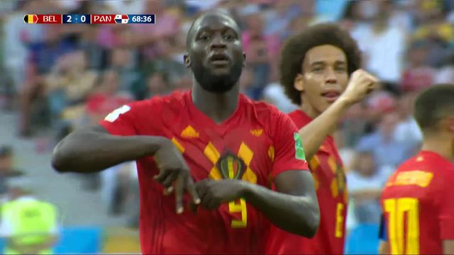 Gr.G, Belgique – Panama (2-0): 69e, service parfait de de Bruyne pour Lukaku qui marque de la tête [RTS]