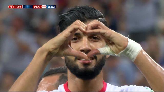 Gr.G, Tunisise - Angleterre (1-1): 35e, Sassi égalise sur penalty [RTS]