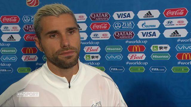 Gr. E, Brésil - Suisse 1-1: interview d'après match de Valon Berhami [RTS]