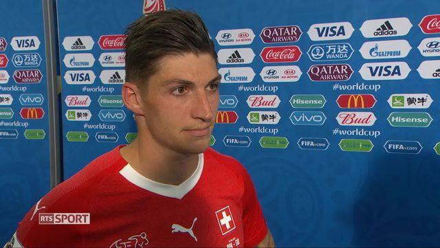 Gr. E, Brésil - Suisse 1-1: le buteur Steven Zuber à l'interview [RTS]