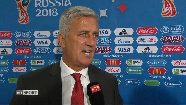 Gr. E, Brésil - Suisse 1-1: le sélectionneur Suisse au micro de Christophe Cerf [RTS]