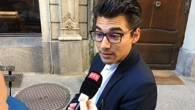 Loris Musumeci, étudiant en philosophie à l'Université de Fribourg. [Maurice Doucas - RTS]