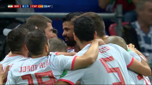 Gr.B, Iran – Espagne (0-1): 54e, Diego Costa libère l'Espagne [RTS]