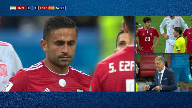 Gr.B, Iran – Espagne (0-1): 62e, but annulé de l'Iran [RTS]