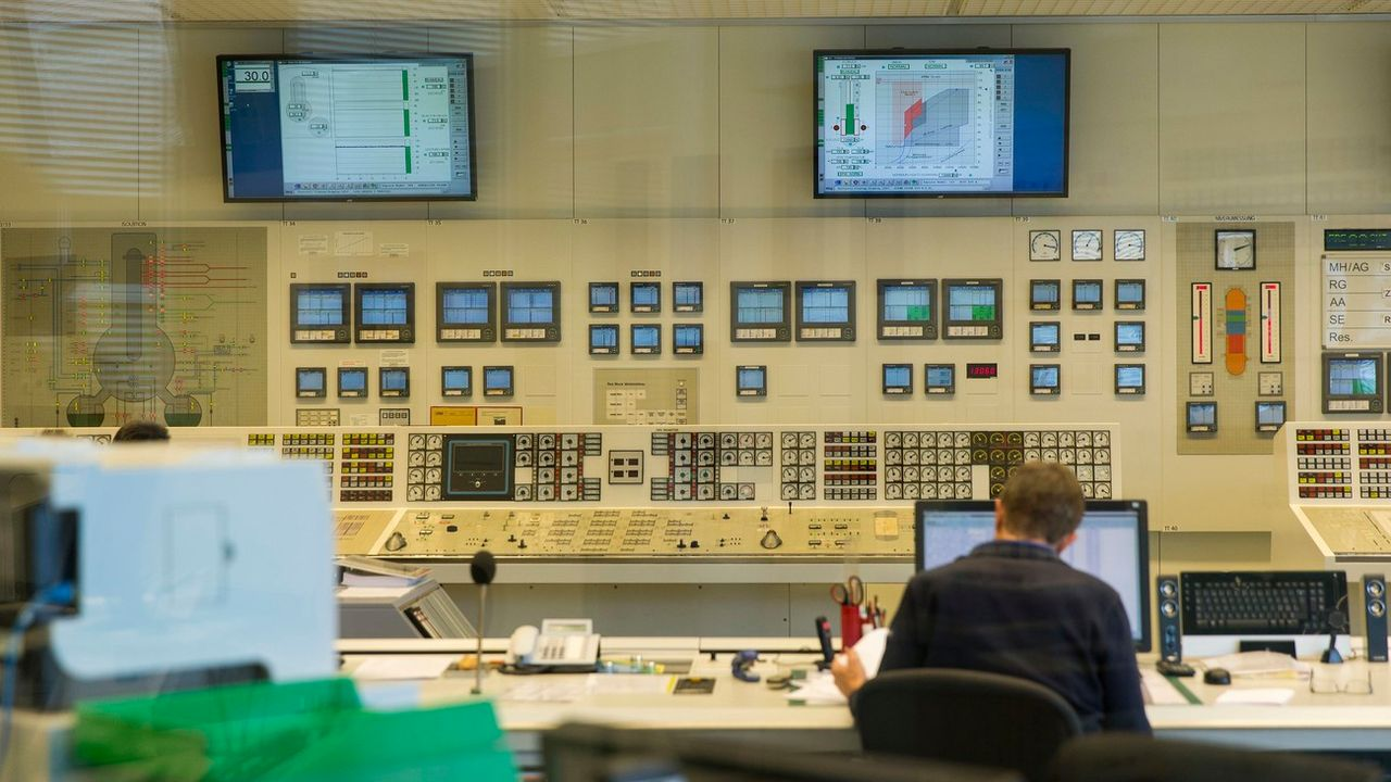 La salle de contrôle de Mühleberg en 2016. [STEFAN BOHRER - Keystone]