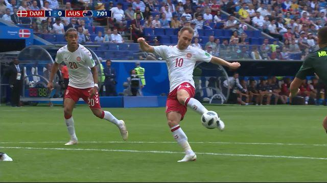 Gr.C, Danemark - Australie (1-0): 7e, très beau but d'Eriksen [RTS]