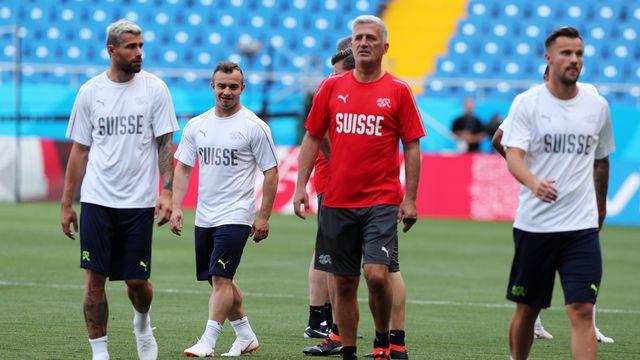 La Suisse aborde le match contre la Serbie en bonne position. [Khaled Elfiqi - Keystone]