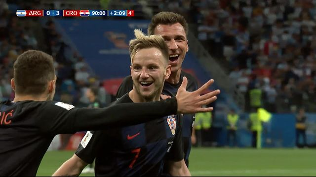 Gr.D, Argentine – Croatie (0-2) : 80e, Modric se joue d'Otamendi et double la mise pour les Croates [RTS]